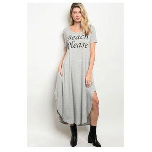 "Dresses & Skirts - Grey ""Beach Please"" Maxi Leisure Dress (Sm & Med)"